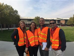 Administration in safety vests
