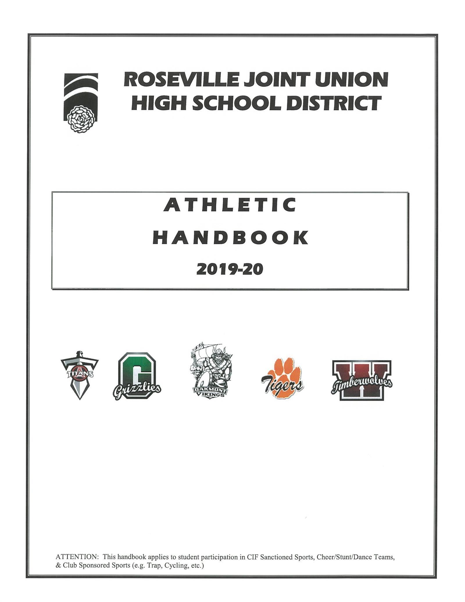 Athletic Handbook 2019-2020