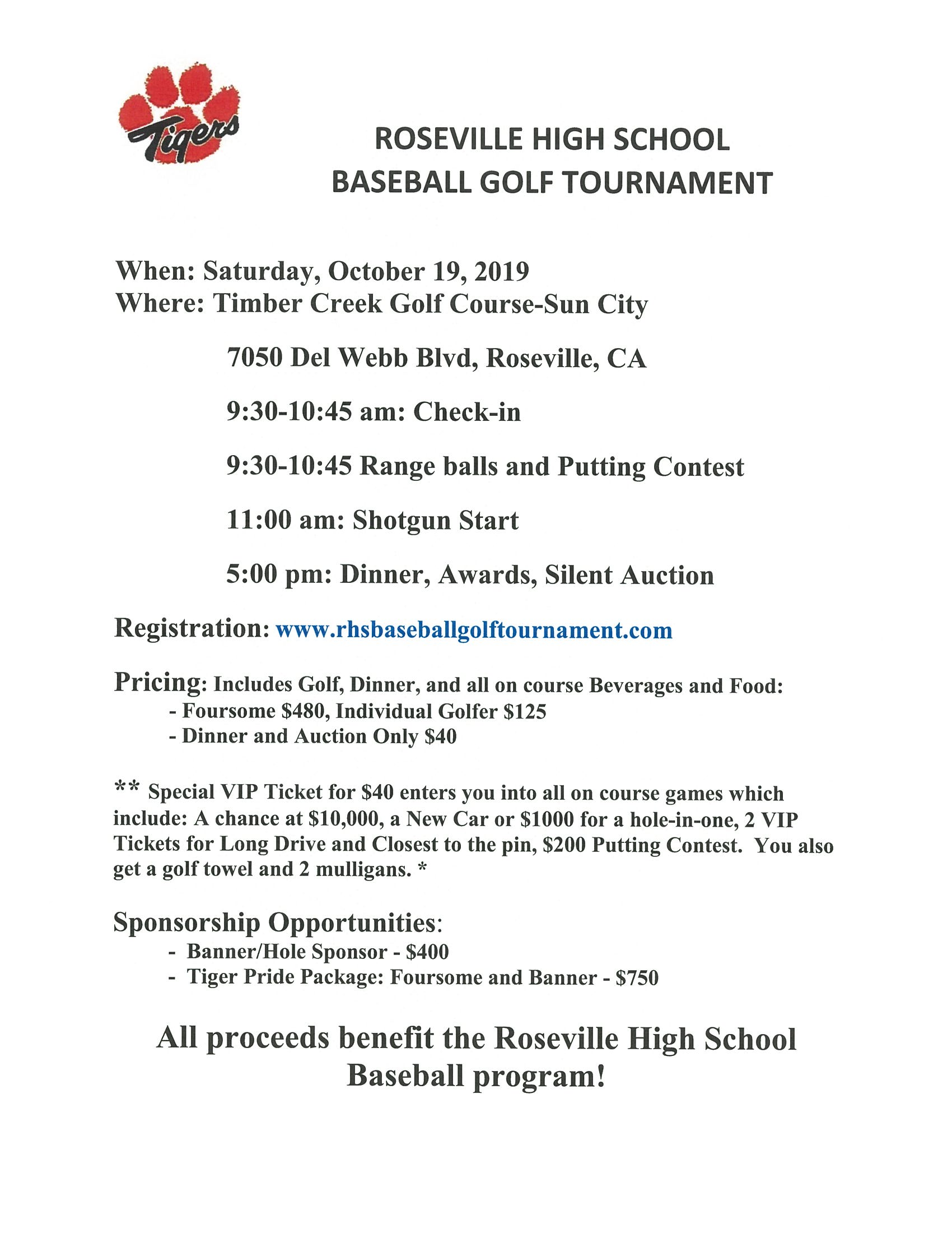 Baseball Golf Tournament