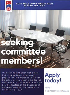 Seeking Committee Members