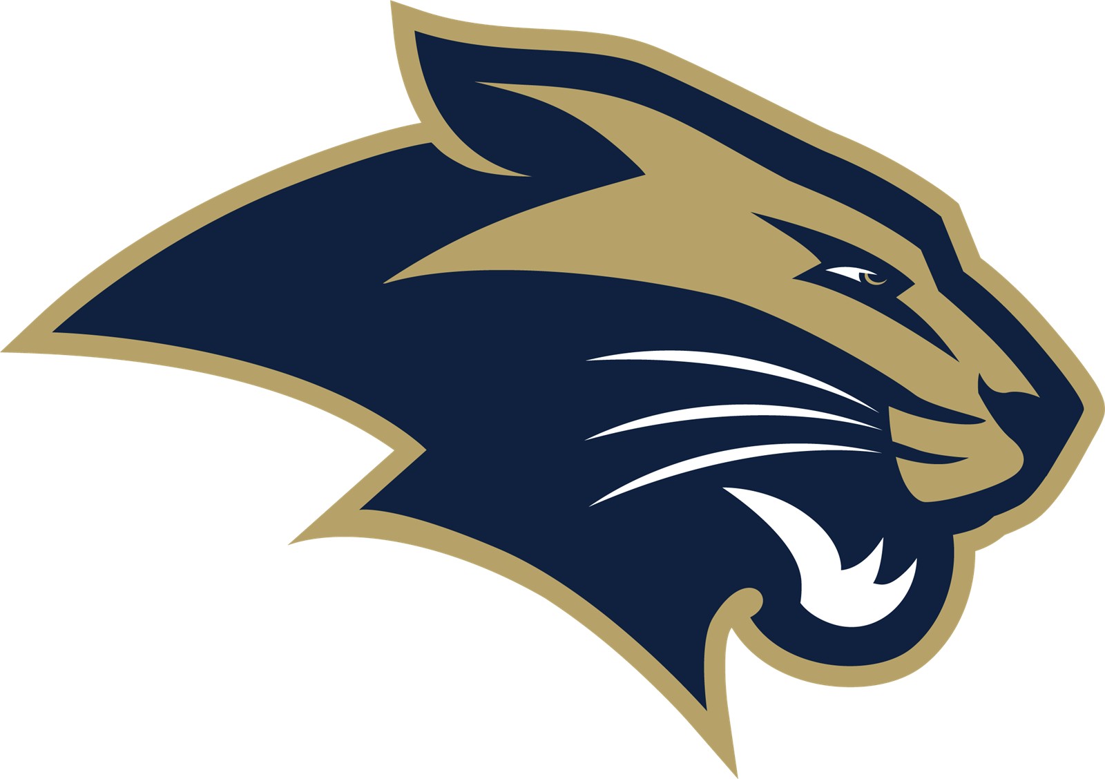 Panther logo with the school colors navy and gold