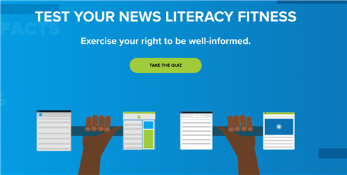 news literacy quiz screenshot