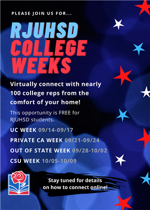 College Weeks Flyer