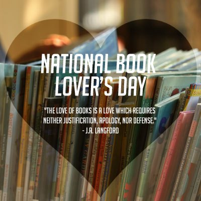 National book lovers day graphic