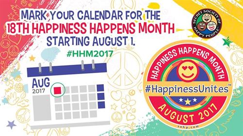 Happiness month graphic