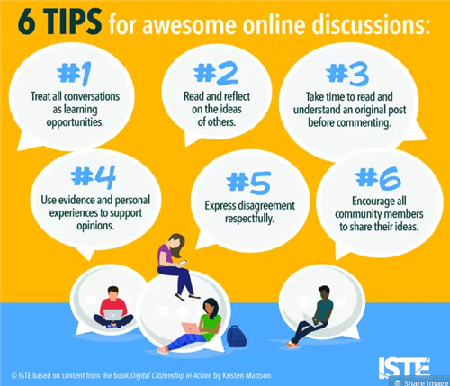 online discussion tips ITSE