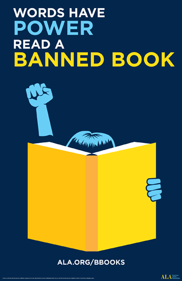 Read a banned book logo