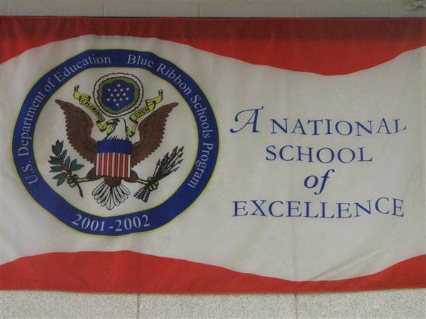 National Blue Ribbon School by the United States Secretary of Education in 2002